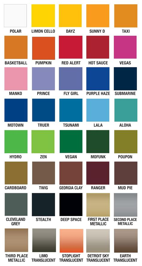 cool spray paint colors plutonium paint color chart cool names design