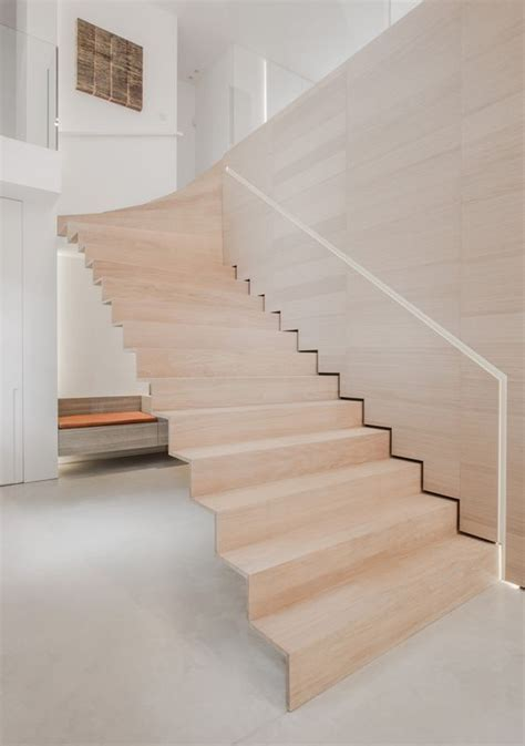 Plywood Stairs Design 30 Stylish Staircase Handrail Ideas To Get Inspired Digsdigs