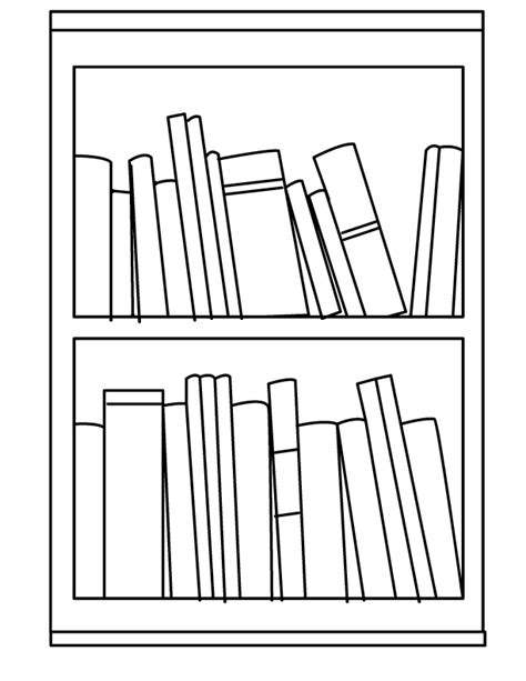 Shelf Coloring Pages free coloring pages of library book shelf