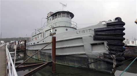military tug boats for sale us navy tugboat converted into home youtube