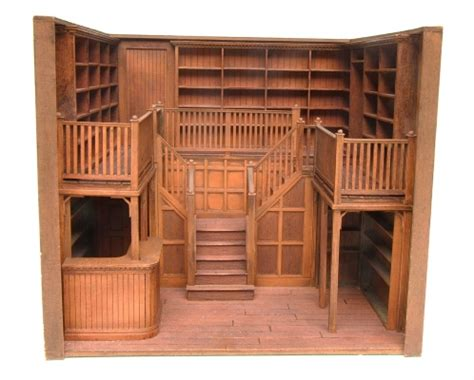 Home Interior Shows prototype oak library 1 24 scale stewart dollhouse creations