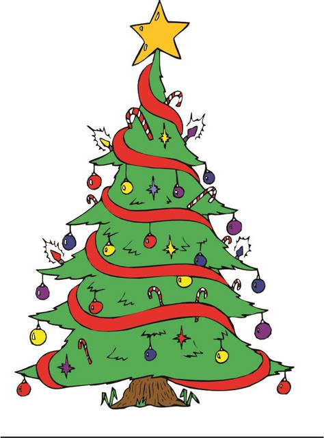 cartoon christmas tree december pics of trees clipart best