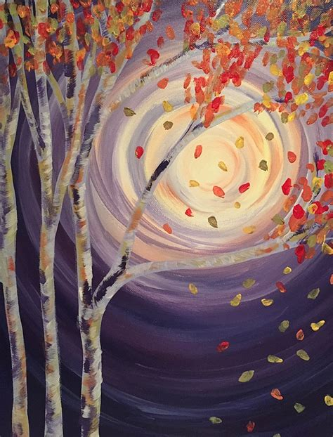paint nite island events paint nite autumn shimmer