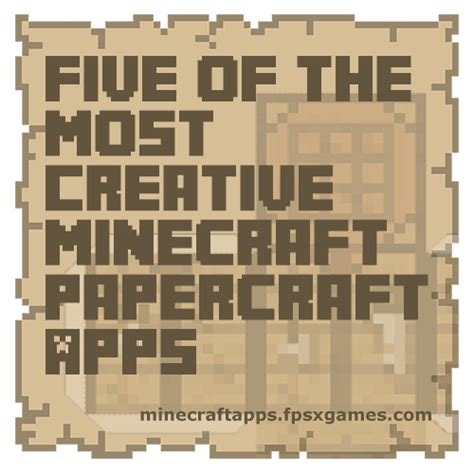 Minecraft Papercraft Big House - creative minecraft papercraft apps