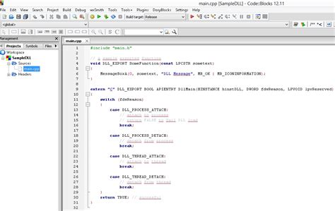 tutorial in c tutorial create a sle dll project using codeblocks ide