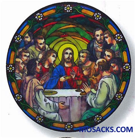 stained glass ls stained glass suncatcher window decal last supper 356 ls