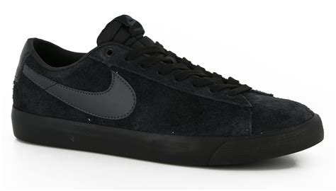 black nike shoes nike sb blazer low gt skate shoes black black anthracite