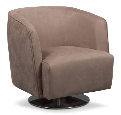 swivel chair santana swivel chair taupe value city furniture