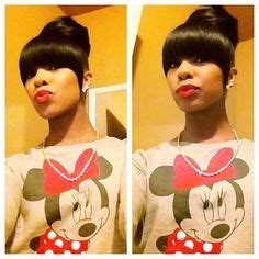 ww bun and bang hairstyles on pinterest bangs weave hairstyles and buns