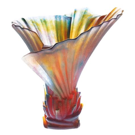 Palm Tree Vase Palm Tree Vase By Daum Crystals Glass Art Palm Vase