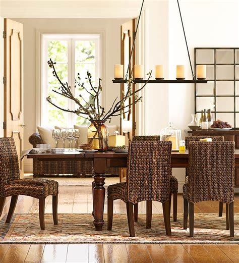 Pottery Barn Dining Room Set seagrass chairs are perfect for this dining room