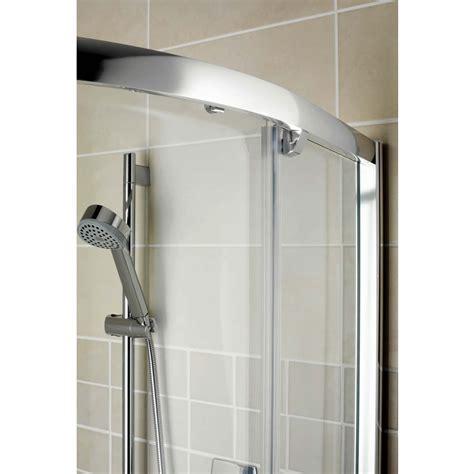 Showerlux Glide Round Offset Single Door Shower Enclosure Rounded Shower Doors
