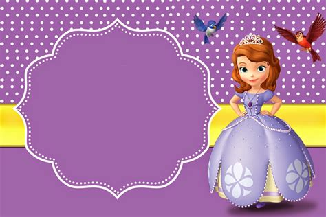 sofia the birthday card template sofia the free printable invitations oh my