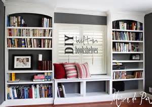 office bookshelves diy built in bookshelves maison de pax