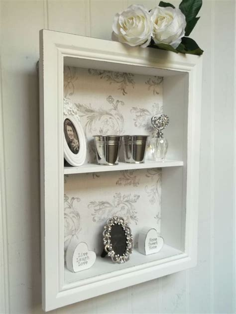 shabby chic wall unit shelf storage cupboard display