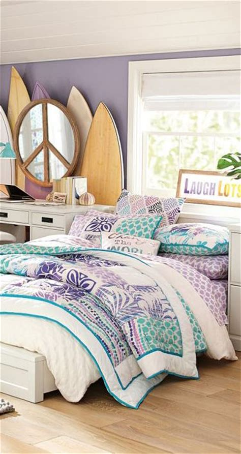 girls surf bedroom island floral girl s patchwork quilt bedding girls rooms kid surfer room ideas pinterest