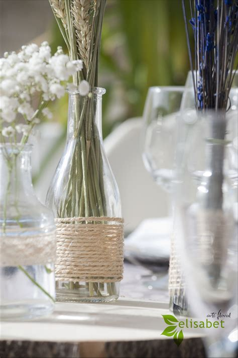 decoraci 243 n de centros de mesa para bautizo mesas i trigo boda silvestre trigo y lavanda elisabet arte floral