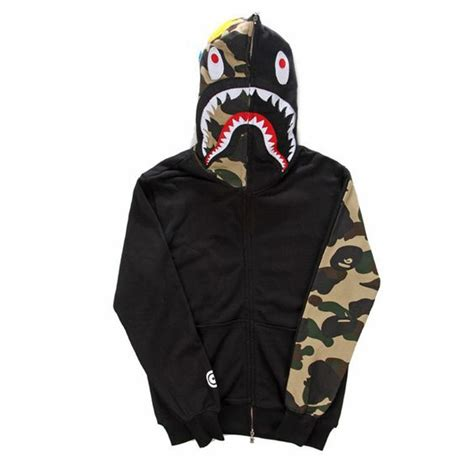 Sweater Shark fashion brand mens clothing bape shark hoodies