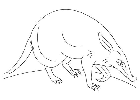 aardvark and ant coloring pages printable coloring sheet