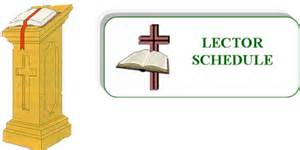 lectors amp schedule resurrection catholic community
