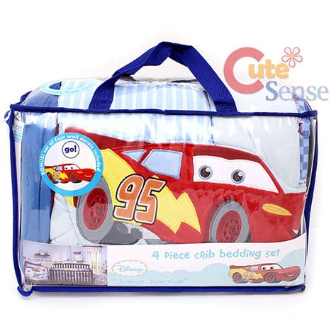 Cars Crib Bedding Set Cars Mcqueen With Mater Baby 4pc Crib Bedding Set Ebay