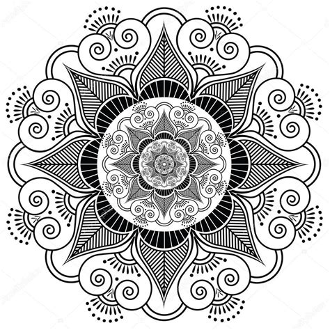 henna tattoo cost in india indian henna flower pattern stock vector