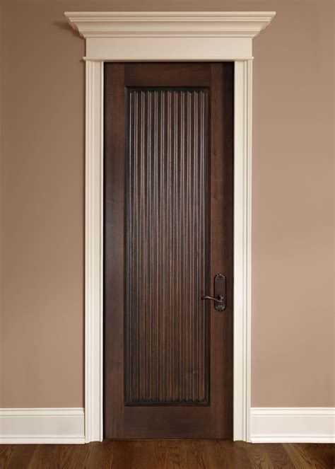 Interior Door Custom Single Solid Wood With Dark Mahogany Interior Doors