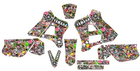 Stickers Yamaha Dtr 125 by Kit Autocolantes Para Moto Yamaha Dtr 125 Dt 125r 91