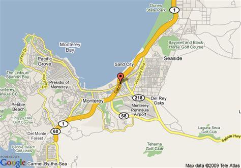 california map la quinta map of la quinta inn monterey monterey