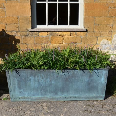 Copper Planters Uk by The Rectangular Copper Garden Planter Medium Wide