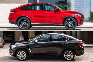 Mercedes Bmw Styling Size Up 2016 Mercedes Gle Coupe Vs 2015 Bmw M6