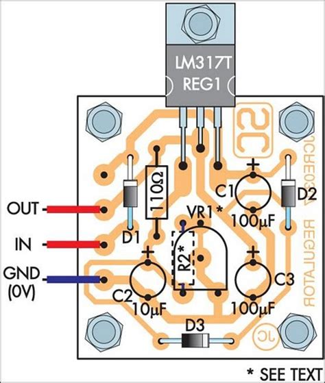 layout pcb power supply how to build adjustable 1 3 22v regulated power supply
