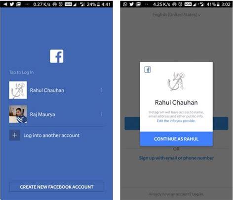 tutorial login instagram how to login instagram with facebook h2s media