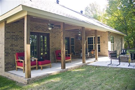 6 Design Ideas To Perk Up Your Outdoor Living Space With Color House Plans With Back Covered Porch