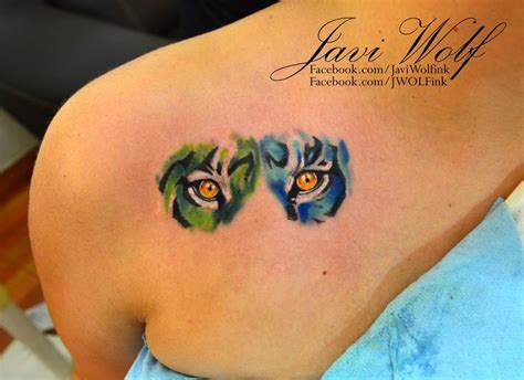 wolf eyes tattoo watercolor of tiger tattooed by javi wolf