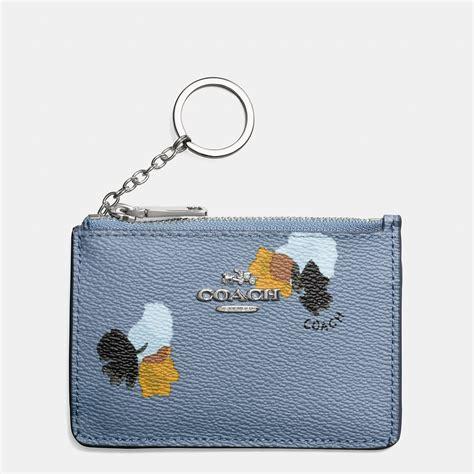 Luella Key Chain Purse by Coach Key Chain Pouch Mini Pink Crossgrain Leather