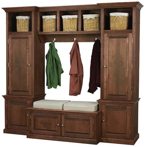 Mudroom Organizers Furniture Arthur Brown Custom Storage Cabinets Lockers And Benches