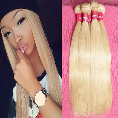 remy human hair bulk for braiding bleach blonde human hair extensions 7a russian blonde virgin hair weaves brazilian 613 human