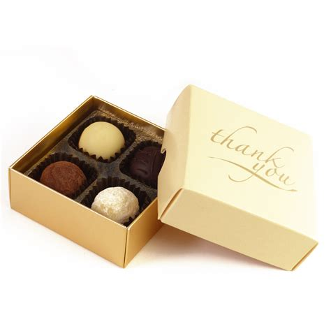 thank you letter chocolate gift thank you chocolate gift box 4 truffles whitakers