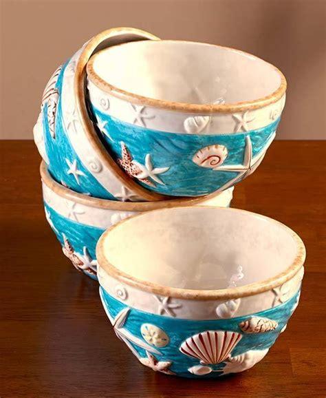 Cottage Dinnerware Sets by Coastal Cottage Dinnerware Bowl Set Of 4 Seashell