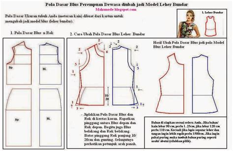 membuat pola baju bagi pemula belajar membuat blus fitinline com menjahit blus