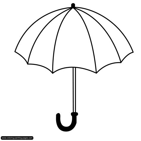 free coloring pages of umbrella large