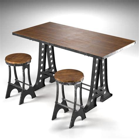 a frame dining table 3d model max obj fbx cgtrader