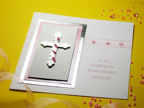 Handmade Christening Cards Uk - zara handmade christening card