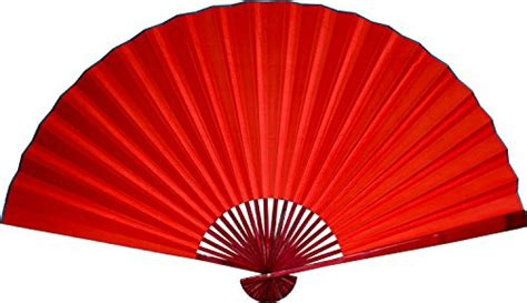 large decorative folding fans large 60 quot folding wall fan red with rose bamboo