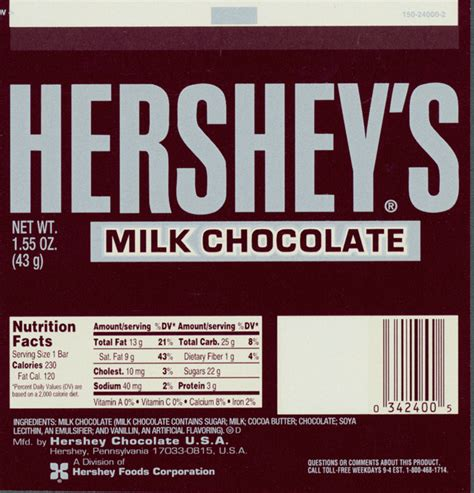 Hershey Labels Template hershey 39 s chocolate bar wrappers