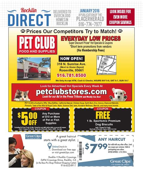 pinnacle dog food printable coupons rocklin direct jan 2016 by gold country media issuu