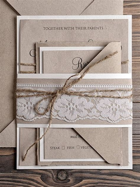rustic wedding invitation companies recycling paper wedding invitation country style