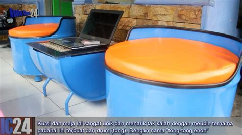 Kursi Tong Bekas tong tong enon kerajinan unik kursi meja dari limbah drum tong bekas