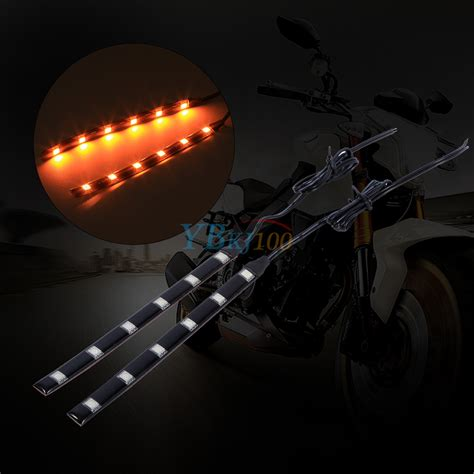 Led Light Strips Motorcycle 2pcs 6led 5050 Smd Motorcycle Led Turn Signal Indicator Blinker Light Cool Ebay
